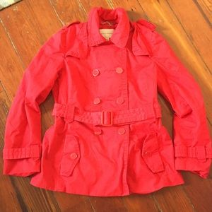 Banana Republic red trench